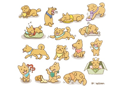 Dog Character dog illustration kids illustration cartoon illustration charecter design illustration cartoon