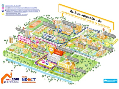 Open house map for KMITL University design illustration map