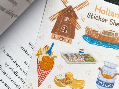 Holland Sticker Sheet doodle kids illustration drawing procreate design cartoon illustration cartoon illustration dutch illustration dutchdesign holland art holland draw