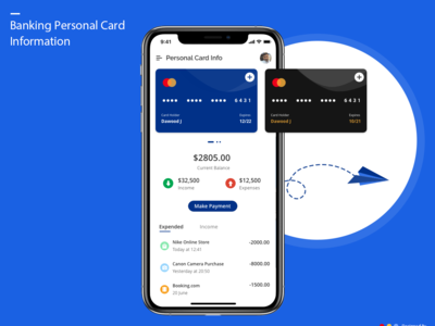 Mobile Banking Personal Card Details