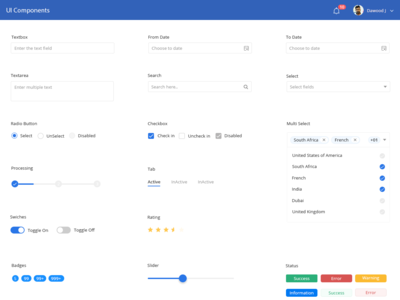 Application UI Components