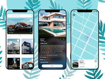 Renda rental app app ui rent blue art illustration graphic design ui design uiuxdesign uxui ui graphicdesign webdesign design uidesign