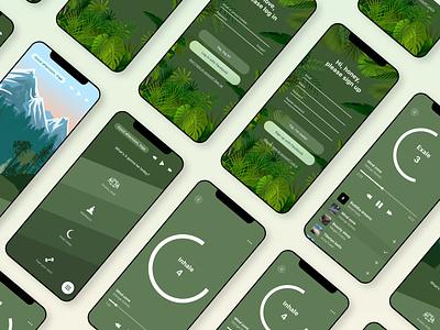 Easify minimal chill mobile app calm green nature graphicdesign ui design uiuxdesign webdesign meditation illustration web ui design uidesign