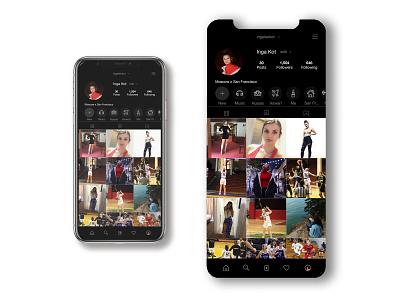 Instagram Dark Mode mock up dark app ig mock-up app design uidesign dark theme dark mode instagram