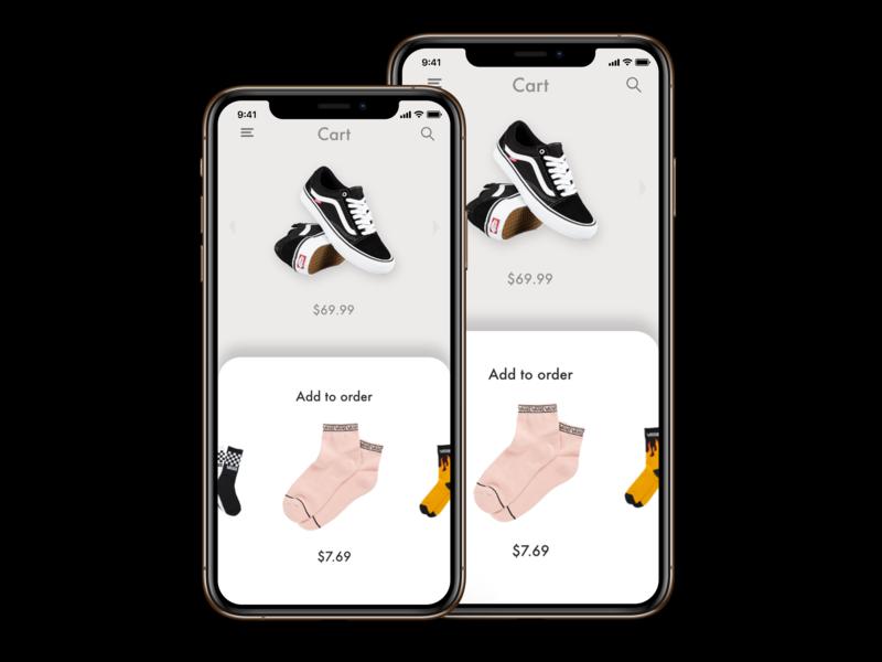 Vans App mock-up ingakot designer design graphicdesign revision appdesign minimalistic uxuidesign uidesign ui vans