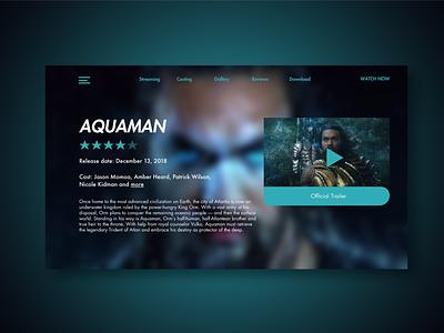 Aquaman webdesign aquaman graphic design ui design uidesign ingakot design ux ui design