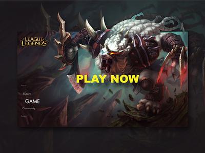 League of Legends UI graphic design webpage web webdesign ingakot uiuxdesign uidesign ui game league of legends
