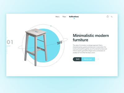 Minimalistic furniture ingakot graphicdesign webdesign web uiuxdesign uidesign ui design furniture minimalistic