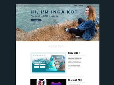 My website pinterest portfolio design photography uxui graphic design web ui graphicdesign webdesign design uidesign