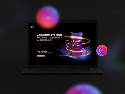 MONx Landingpage ui  ux mobile design mobile app ui web website design website uidesign web design webdesign designs design