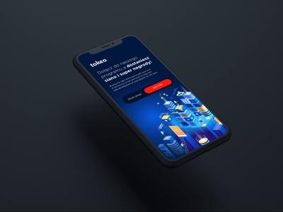 Tokeo   Mobile landing page design. ui  ux uidesign mobile ui mobile app design mobile keyvisual designs app ui design
