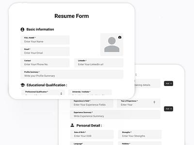 resumeuidesign uikit ui uplabs webdesign userinterface website adobexd uxdesign