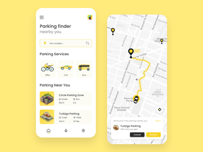 Parking finder nearby you adobe xd uxuidesign uiux design uiux parking app landing page branding userinterface uidesign website webdesign uxdesign
