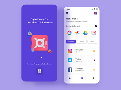Password Protected  app ui design design uiux userinterface illustration branding uxdesign webdesign uidesign uikit password manager security system security app