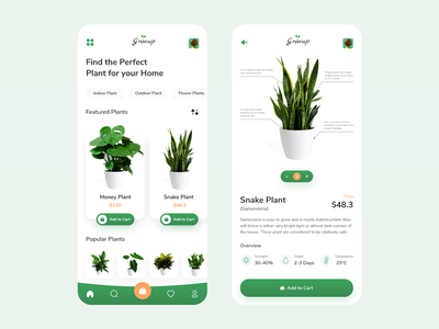 Plant store app adobexd illustration website branding uikit uxdesign uxuidesign ui  ux uidesign appdesign plantstore plantapp