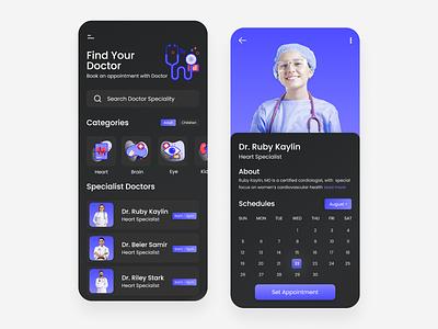 Doctor appointment app ui design landing page design uiux adobexd userinterface branding webdesign uidesign uxdesign doctor appointment appointment booking doctorappuiidesign