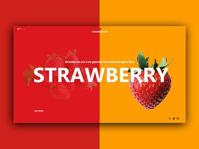 Strawberry ui design frontend website webdesign userinterface uxdesign uidesign