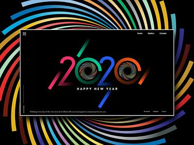 Happy New year 2020 ui design uidesigners landing page ui ux website design mock up inspiration uxdesign uidesign