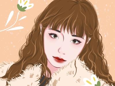 Beauty illustration head
