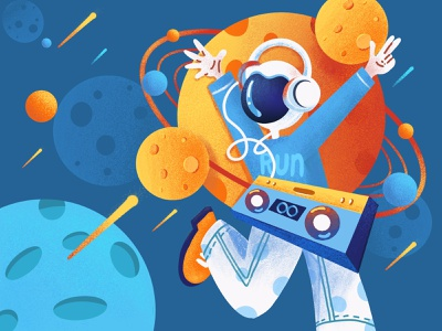 Character illustration aether outer space procreate ipadpencil ipad illustration ui design