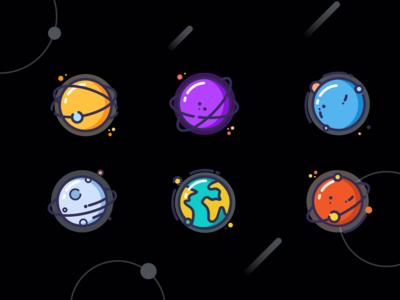 装饰性星球图标ICON