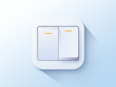 Copy a materialized icon-拟物化图标 拟物化 materialized switch 开关 icon 设计 ux 图标 ui