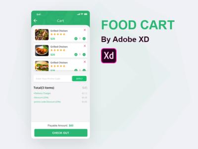 Food Cart - By Adobe XD
