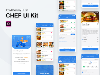 Mory Food Delivery UI Kit