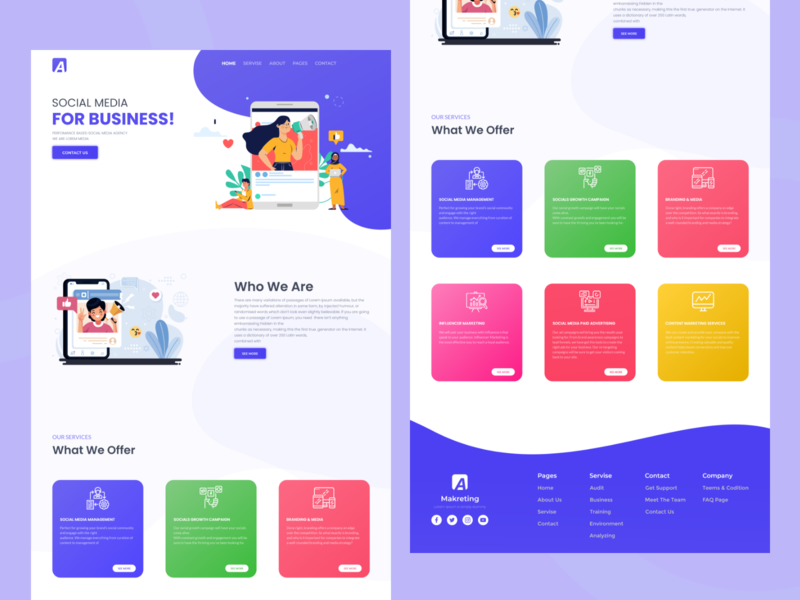 Markting For Business Landing Page