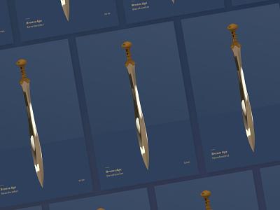 Swordtember 2 archaeology bronze age swordtember sword gradient illustrator illustration vector