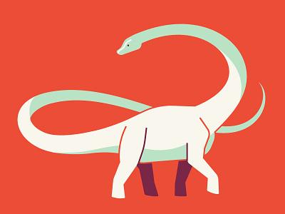 Barosaurus prehistoric vector illustrator sauropod jurassic paleontology dinosaur