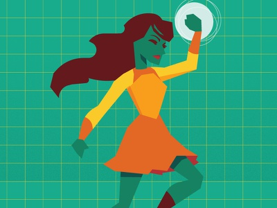 Time to Throw Down infographics data visualization video game superhero geometric illustration vector
