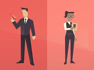 Spy And Quartermaster geometric gradient vector quartermaster q secret agent spy
