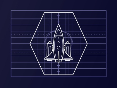 Sci-fi UI vector illustrator space ux ui spaceship rocket sci-fi