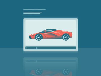 Vroom vroom gradient vector ferrari car motion video hologram