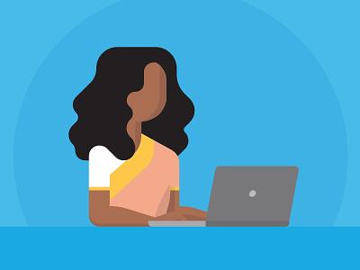 Bangladeshi Woman laptop sari bangladesh geometric character illustrator vector illustration