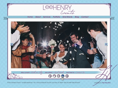 LeeHenry Events Website website wedding theparafirm para firm events planning design designer fashion southern the para firm first shot new