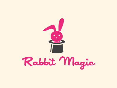 Rabbit Magic Logo Template logo logo template rabbit magic pink character mascot