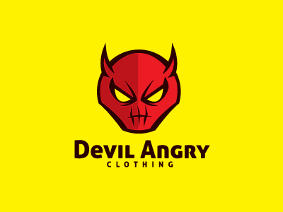 Devil Angry Logo Template logo logo template devil angry red character mascot face