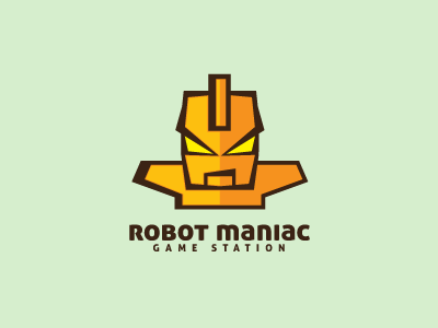 Robot Maniac Logo Template logo logo template mascot brand cartoon game identity illustration illustrative machine