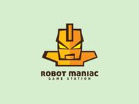Robot Maniac Logo Template