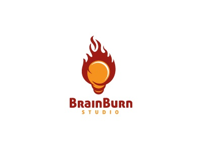 Brain Burn Logo Template agency burn creative fire idea media smart