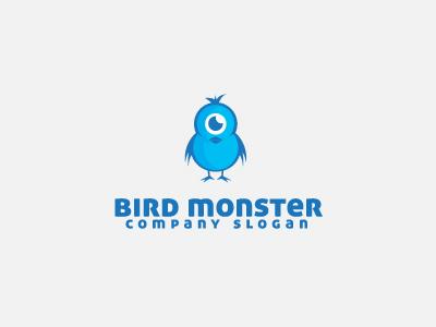 Bird Monster Logo Template logo logo template devil bird blue character mascot face cute twitter