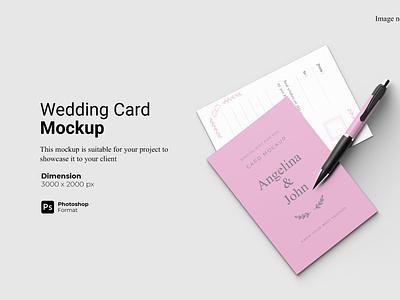 Wedding Card Mockup Cover realistic
