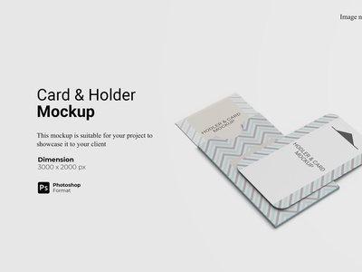 Card and Holder Mockup Cover Preview namecard 3d