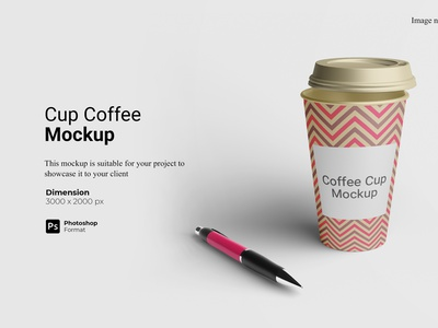 Cup Coffee Mockup Cover Preview showcase 3d