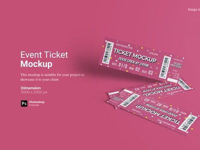 Event Ticket Mockup Preview Cover show