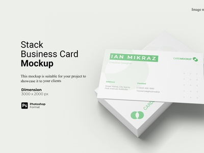Stack Business Card Mockup Cover realistic 3d