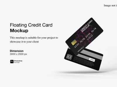 Floating Credit Card Mockup Cover Preview 3d