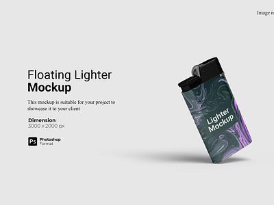 Floating Lighter Mockup Preview Cover 3d